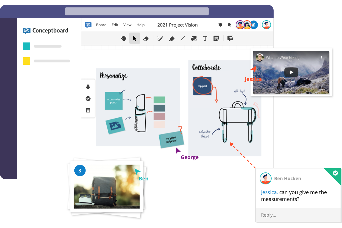 Microsoft Teams visual collaboration conceptboard