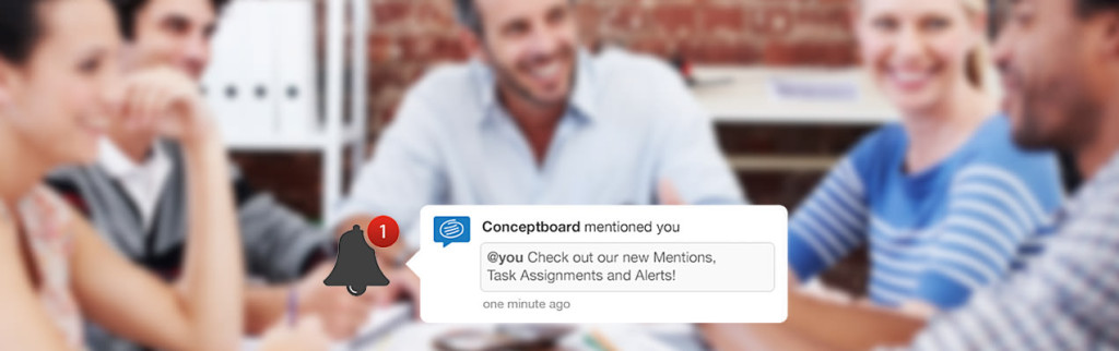 Conceptboard Alerts team collaboration check out new mentions task asingments and alerts