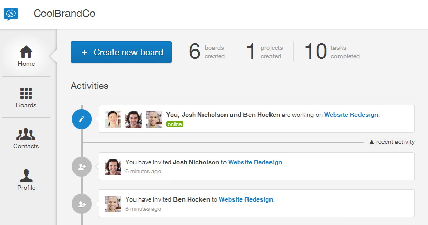 Conceptboard News feed
