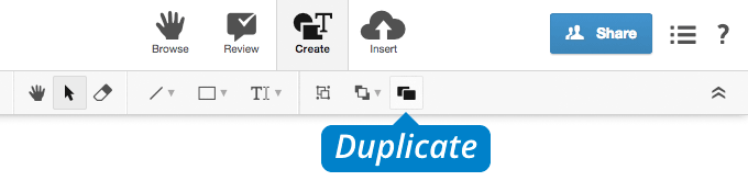 conceptboard create tab duplicate icon