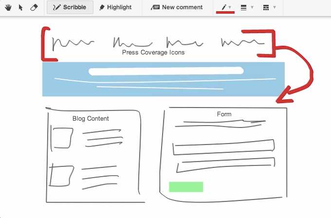 Conceptboard scribble tool example