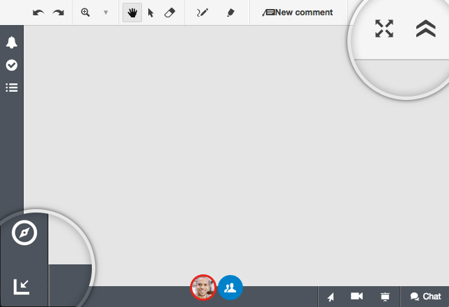 Conceptboard fullscreen mode