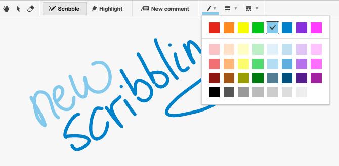 Scribble colors