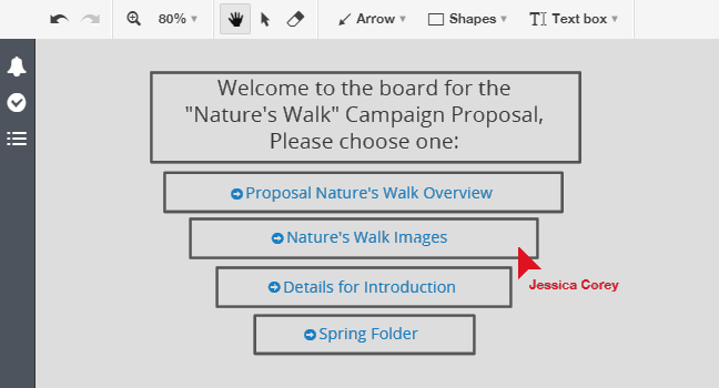 Create links in your board for better navigation