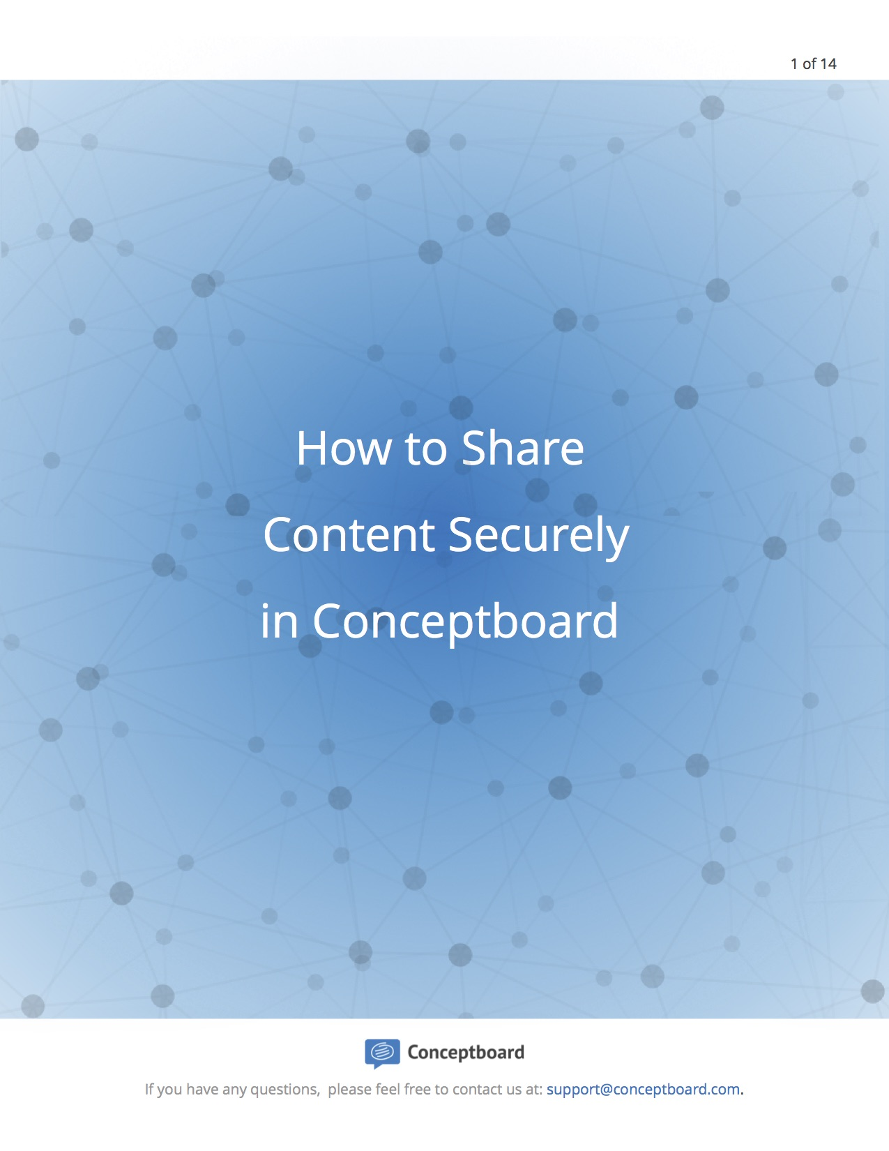 How to share content securely in Conceptboard