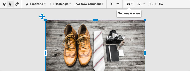 Conceptboard scale image option