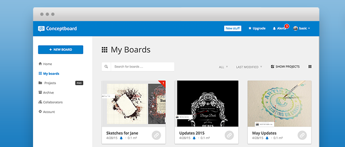 Conceptboard New Design And Archiving