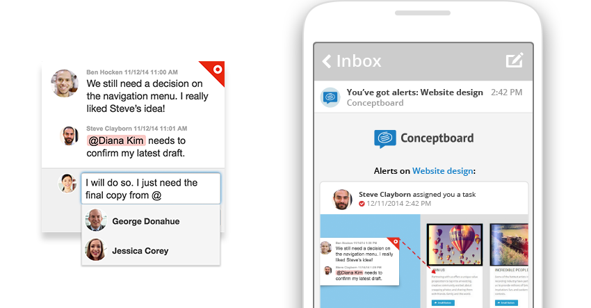 Notifications and mobile alerts in Conceptboard