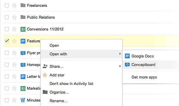 Öffnen Sie Ihr Drive Dokument in Conceptboard und zentralisieren Sie die komplette Diskussion und den Feedback Prozess.
