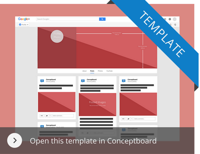 Googleplus template in Conceptboard