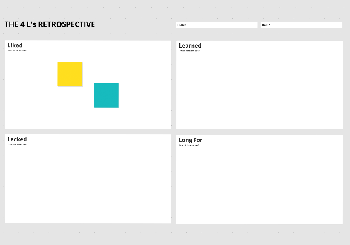 The 4 Ls Retrospective Template