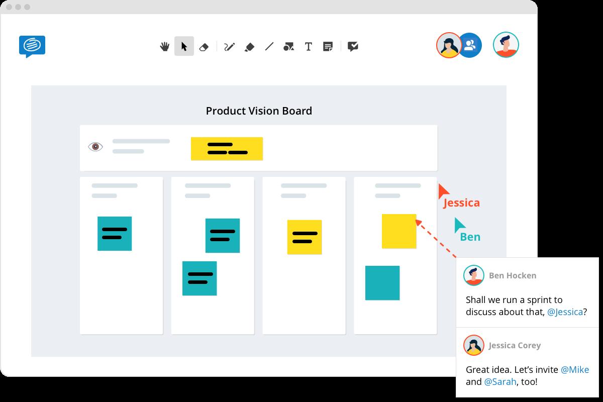 remote agile teams product vision