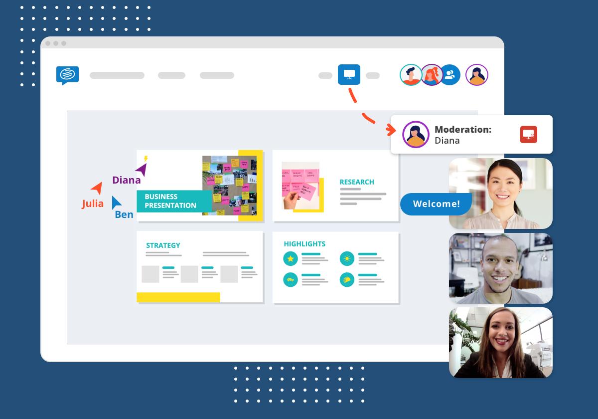 Virtual presentations conceptboard