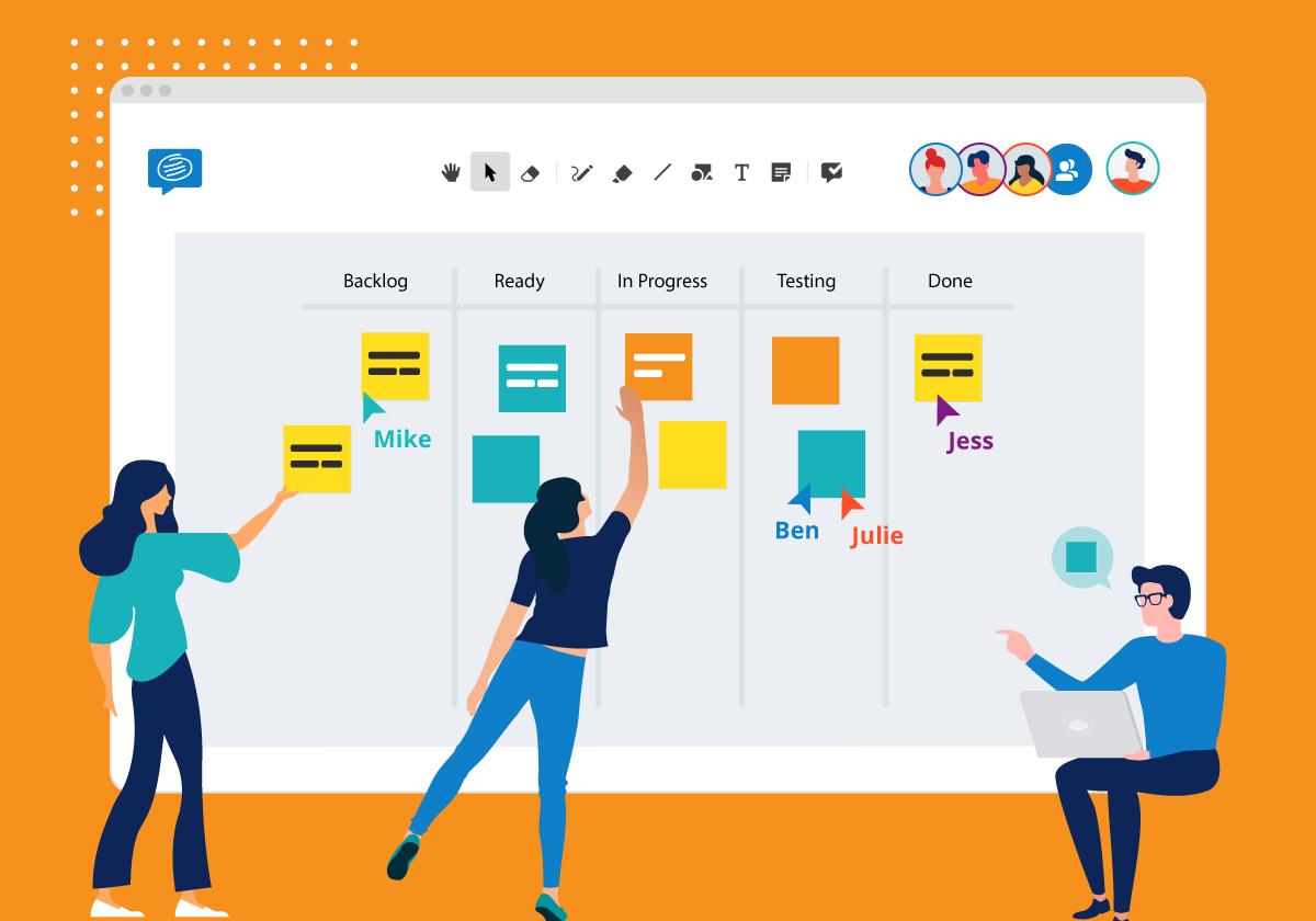 remote agile team conceptboard