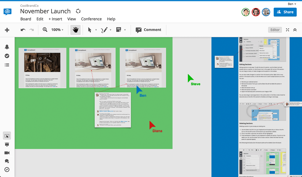 conceptboard new integrations onedrive