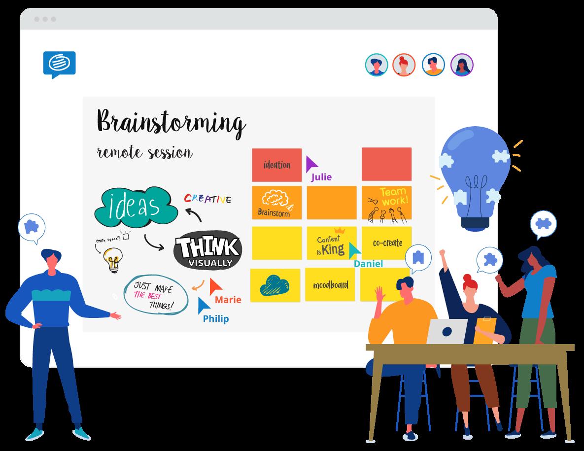 virtual teams brainstorming