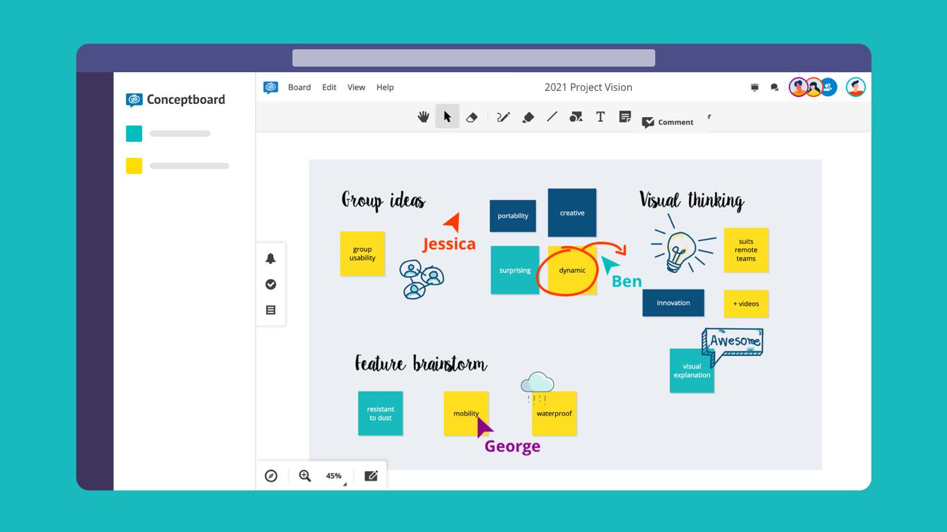 Microsoft teams conceptboard