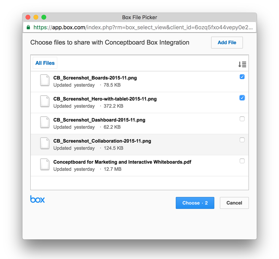 conceptboard box integration file picker