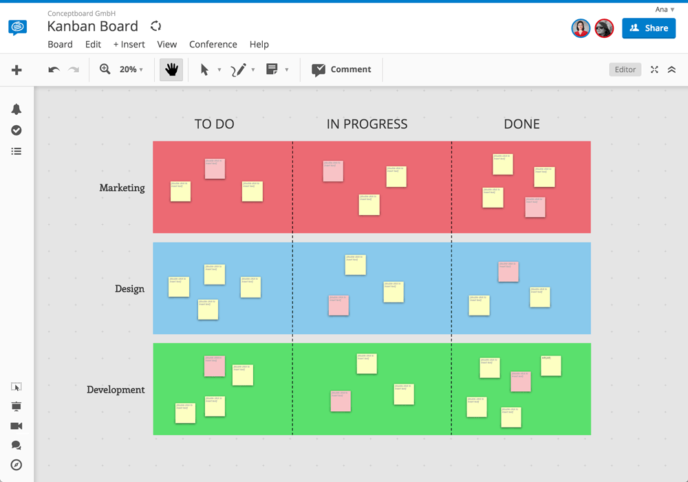 Getting started with kanban boards conceptboard kanban agile board template pronofoot35fo Images