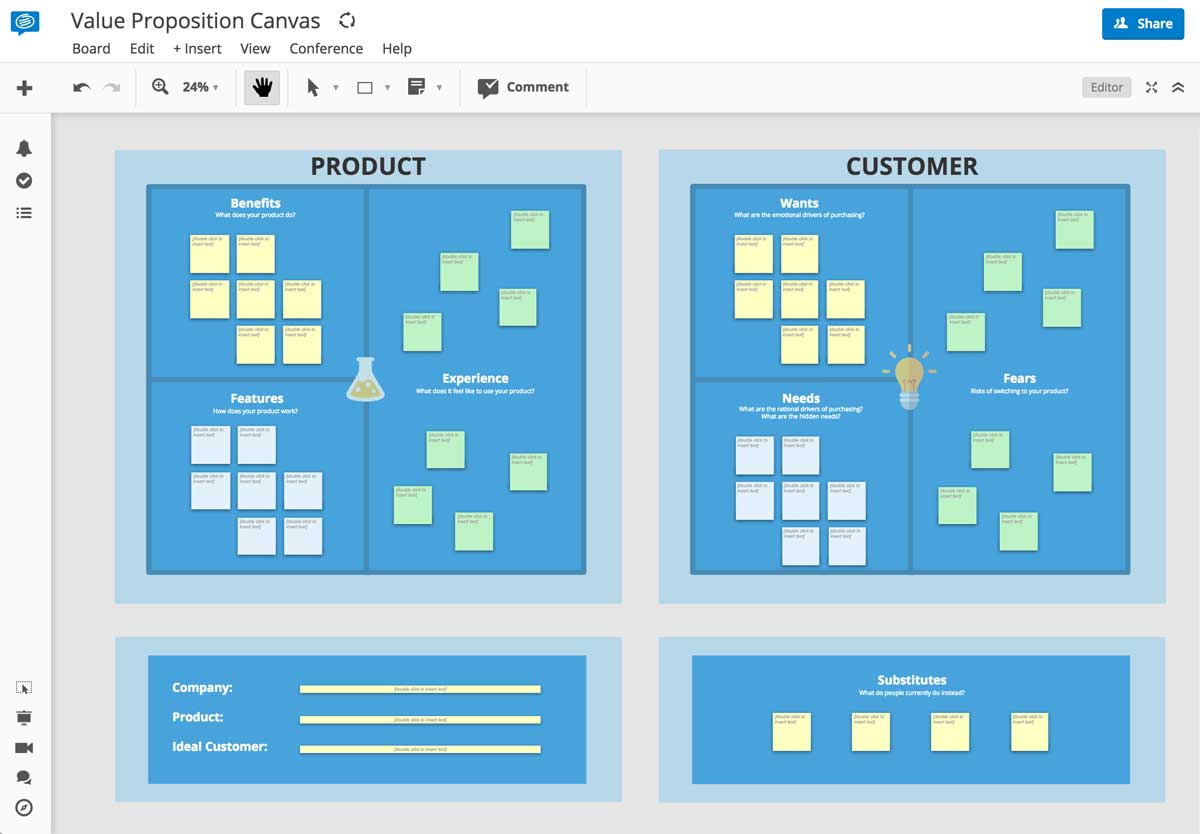 Conceptboard Value Proposition Template