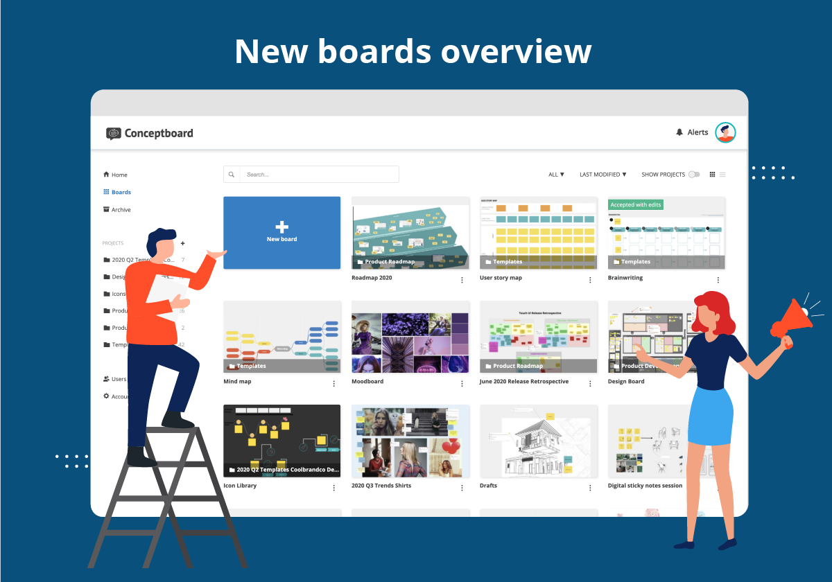 Conceptboard new boards overview