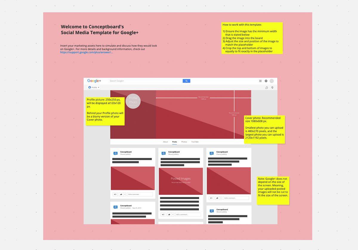 Google+ social media template