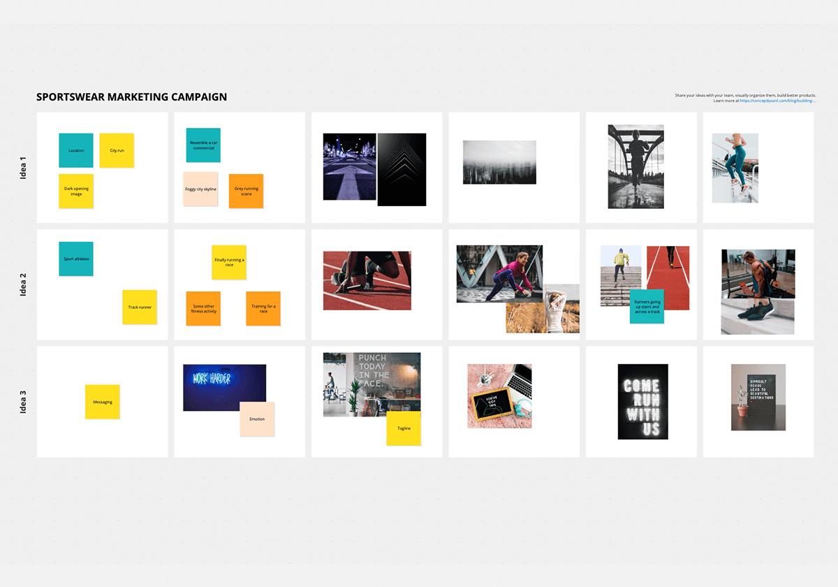Idea board template
