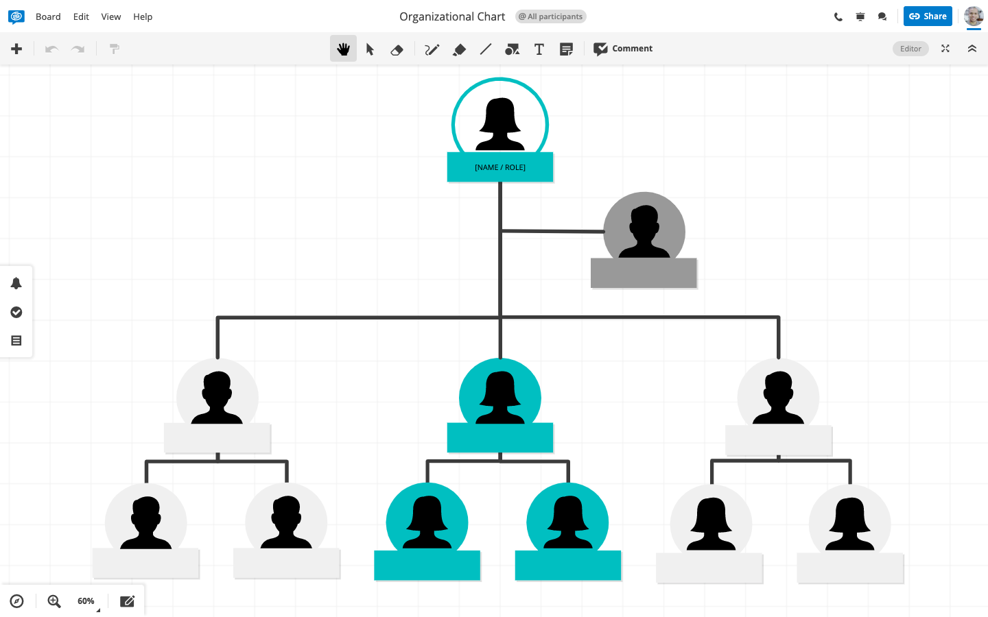 Organizational Chart with Icons