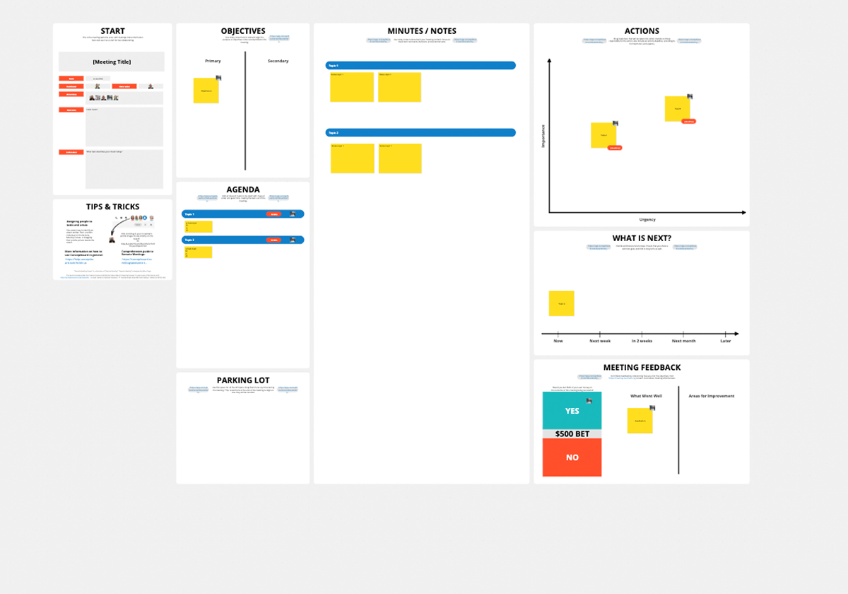 Remote Meeting Canvas