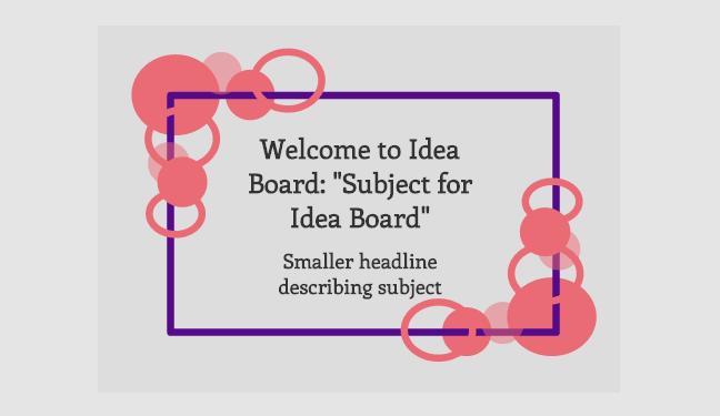 Idea Boards Welcome Screen in Conceptboard