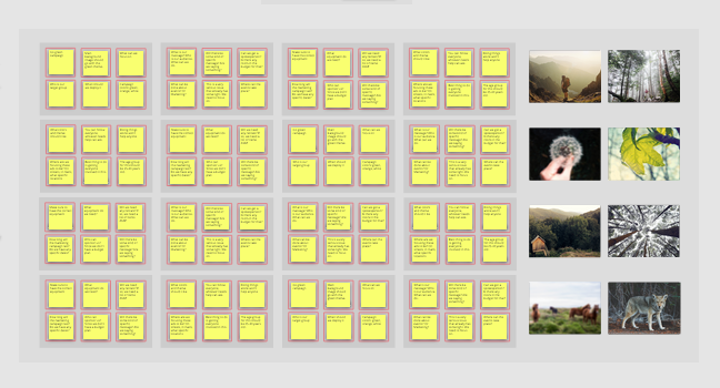Sticky notes for collaboration in Conceptboard