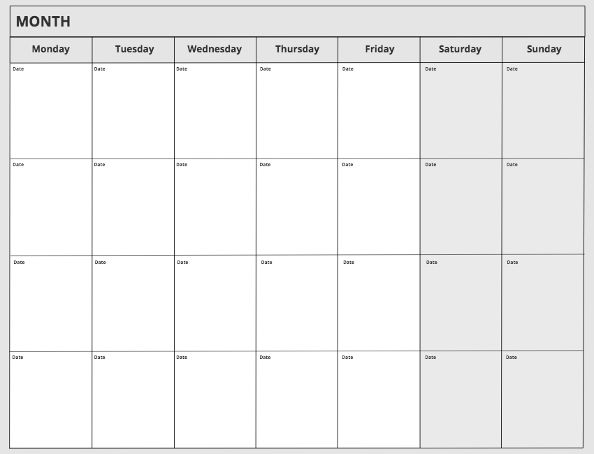 Use the Monthly Template in Conceptboard
