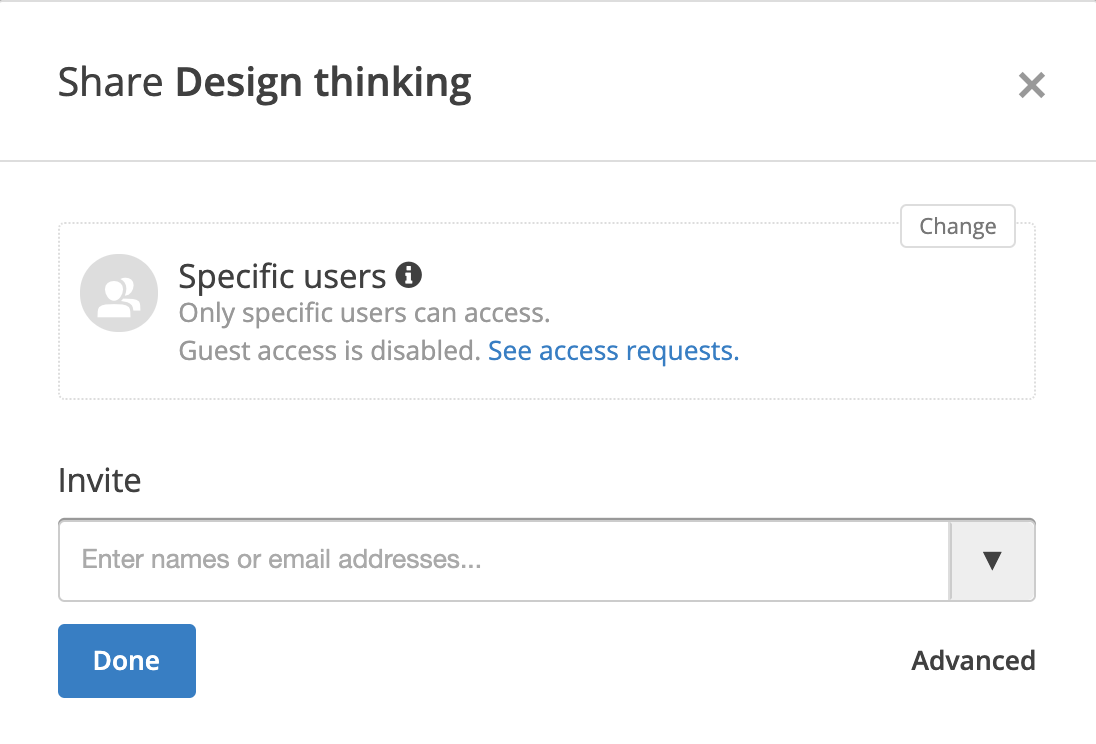 conceptboard share dialog access requests