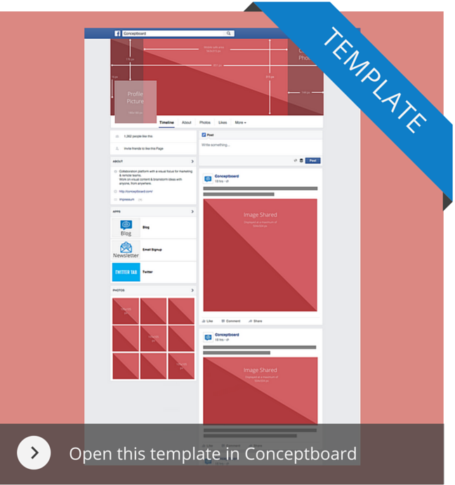 Use the Facebook template in Conceptboard
