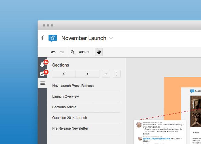 Conceptboard alert notification