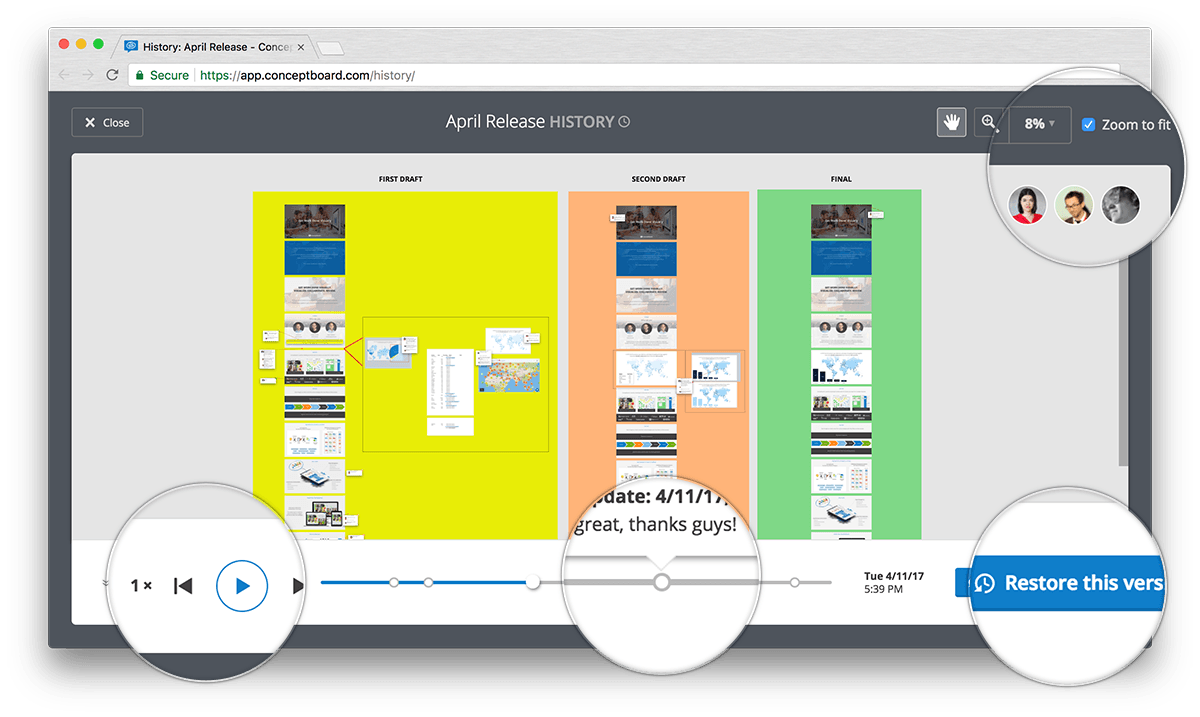 Conceptboard product development release history
