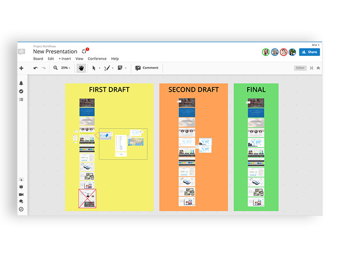 Conceptboard workflow process