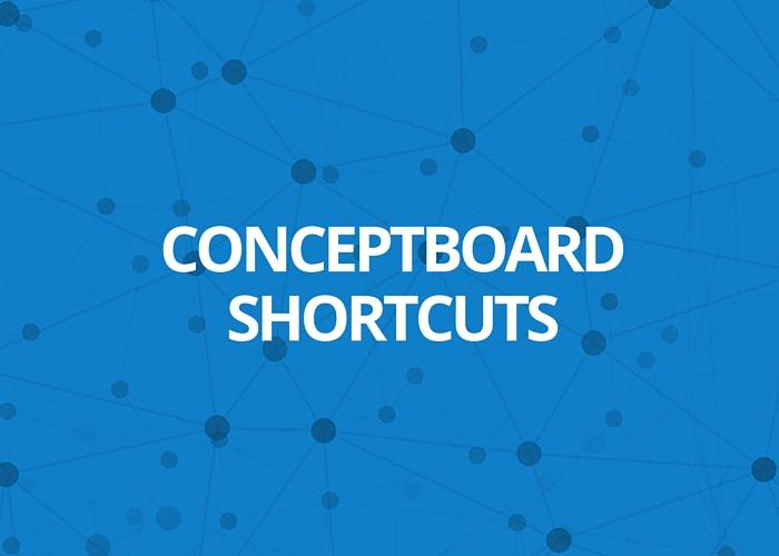 Conceptboard shortcuts