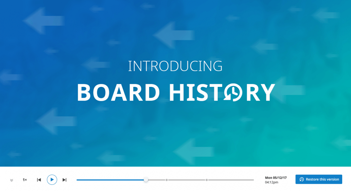 Conceptboard Versioning feature