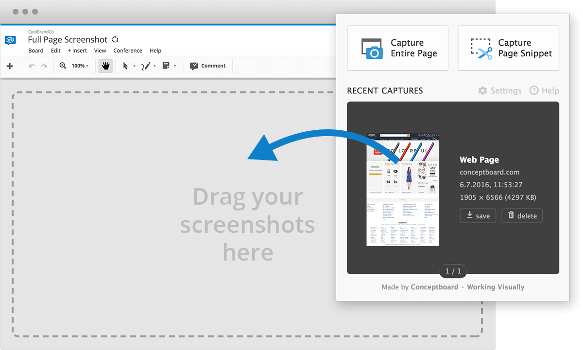 full page screenshot conceptboard