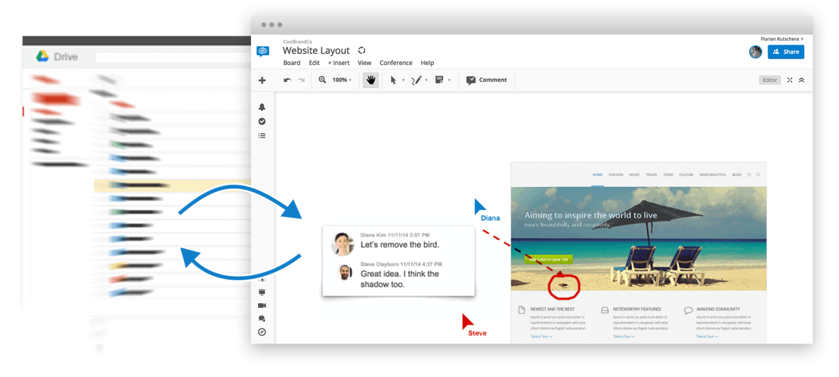 Import Drive files and links into your boards from Google Drive.
