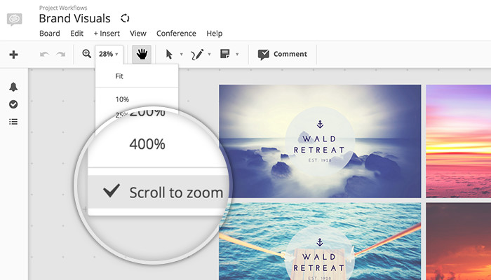 Conceptboard new Scroll to zoom option