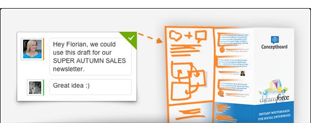 Newsletter scribble tool